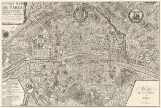 D530 - De Fer, Nicolas - Plan de la Ville de Paris, 1715