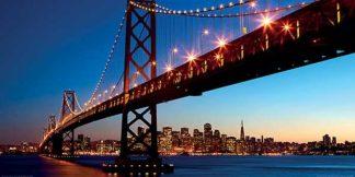 D857 - Dibrova - San Francisco Skyline and Bay Bridge at Sunset