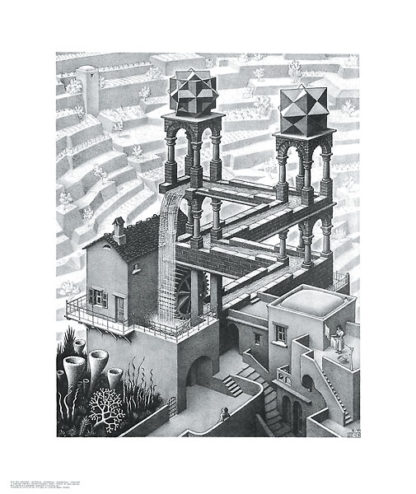 E22 - Escher, M. C. - Waterfall