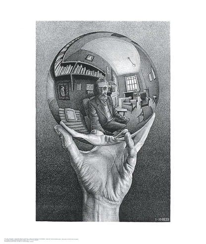 E23 - Escher, M. C. - Hand with Reflecting Sphere