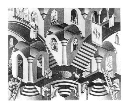 E95 - Escher, M. C. - Concave and Convex