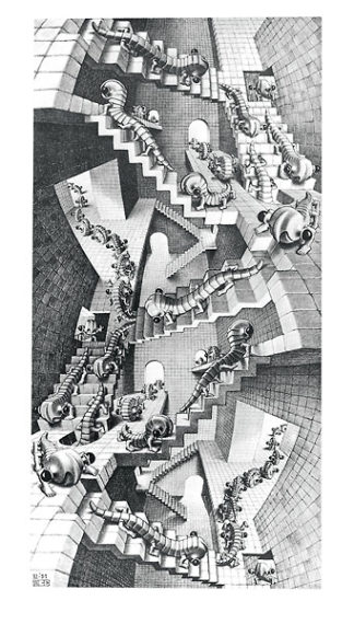 E96 - Escher, M. C. - House of Stairs