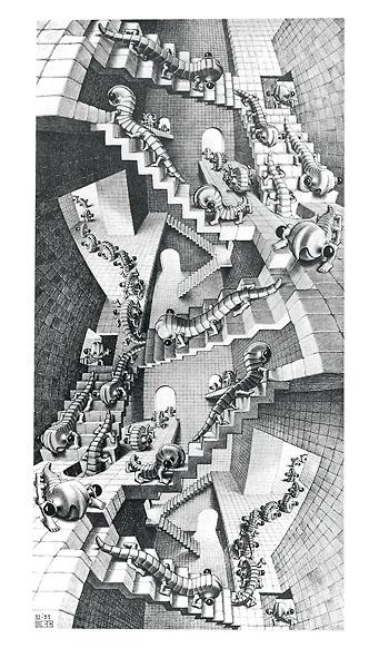 E96 - Escher, M. C. - House of Stairs
