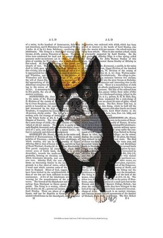 F629 - Fab Funky - Boston Terrier and Crown