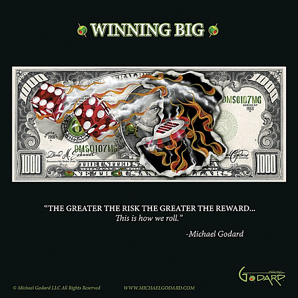 G661 - Godard, Michael - $1,000 Bill Winning Big