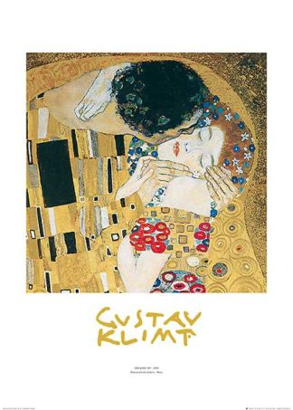K2258 - Klimt, Gustav - The Kiss (metallic)