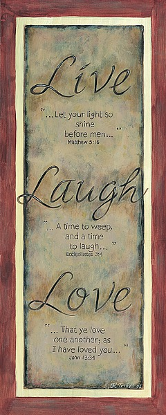 KT1572 - Tribett, Karen - Live Laugh Love