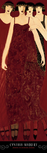 M855 - Markert, Cynthia - Women in Crimson Gowns