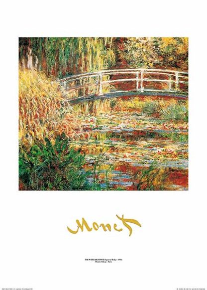 M987 - Monet, Claude - The Water Lily Pond (metallic)