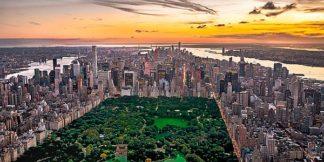 P1088C - Plisson, Philip - New York & Central Park (canvas w/mirrored edge)