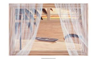R610 - Romanello, Diane - Amber Palms with Window