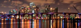 R622 - Reisinger, Carsten - Night View of the Miami Skyline