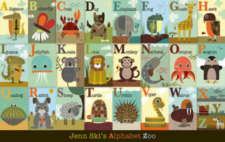 S879 - Ski, Jenn - Alphabet Zoo