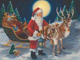 SC1120 - Comish, Susan - Santa with lantern