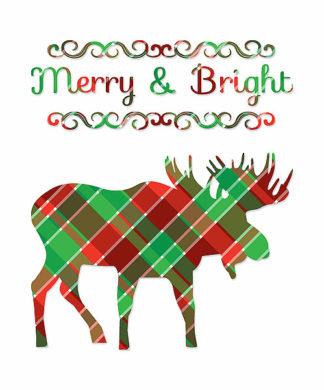TA1166 - Moss, Tara - Plaid Moose Merry & Bright