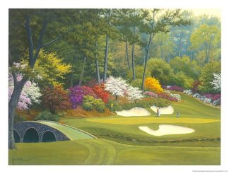 W692 - White, Charles - 12th Hole at Augusta