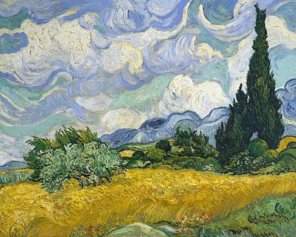 V674D - Van Gogh, Vincent - Wheat Field with Cypresses