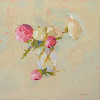 M1568D - Maguire, Carol - Peonies In Glass No. 2