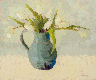 M1572D - Maguire, Carol - Tulips in Turquoise