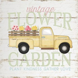 SBJP5666 - Pugh, Jennifer - Vintage Flower Garden Truck