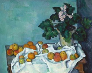 C1191D - Cézanne, Paul - Still Life with Apples and a Pot of Primroses