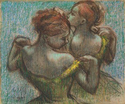 D1901D - Degas, Edgar - Two Dancers, Half-Length