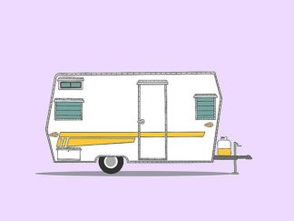 A504D - Annie Bailey Art - Aristocrat Camper