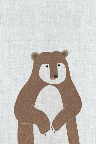 A515D - Annie Bailey Art - Brown Bear