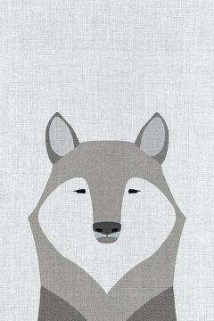 A518D - Annie Bailey Art - Gray Wolf