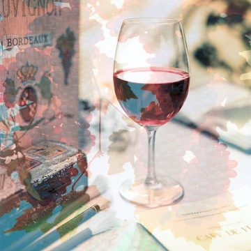 B3640D - Blaustein, Alan - Bordeaux Vineyard Cafe #1
