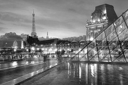 B3649D - Blaustein, Alan - Louvre with Eiffel Tower Vista #2