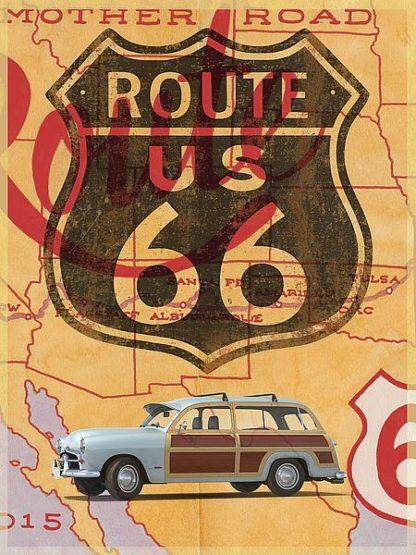 F710D - Fielding, Edward M. - Route 66 Vintage Postcard