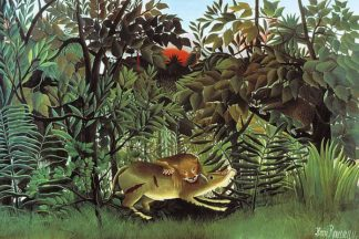 R1192D - Rousseau, Henri - The Hungry Lion
