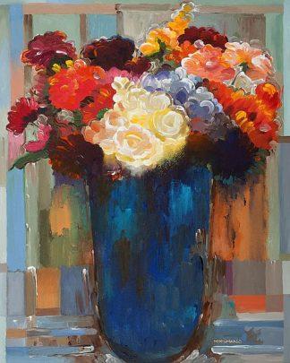 K2697D - Khorasani, Hooshang - Flowers in a Blue Vase