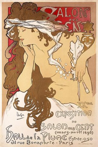 M1591D - Mucha, Alphonse - Salon des Cent 20th Exhibition