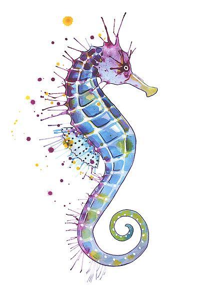 N385D - Nagel, Sam - Purple Seahorse
