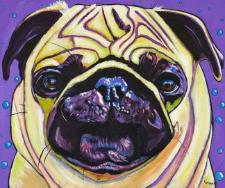 W1008D - Wronski, Kathryn - Purple Pug