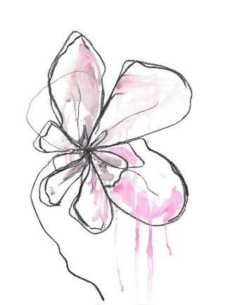 W1014D - Weiss, Jan - Pink Modern Botanical