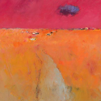 IG2231 - Groenhart, Jan - Landscape in Orange and Red