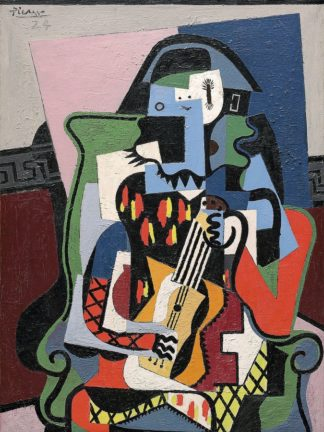 P1167D - Picasso, Pablo - Harlequin Musician, 1924 (Arlequin Musicien)