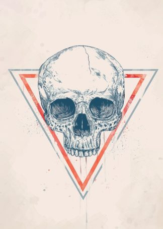 S1768D - Solti, Balazs - Skull in Triangle No. 2