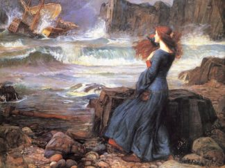 W1024D - Waterhouse, John William - Miranda the Tempest