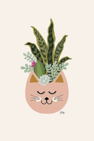 A593D - Annie Bailey Art - Cats and Plants