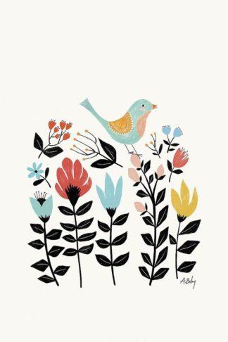 A597D - Annie Bailey Art - Folk Art Garden