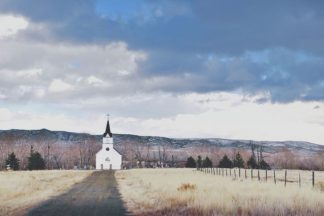 A600D - Annie Bailey Art - Little Church on the Prairie