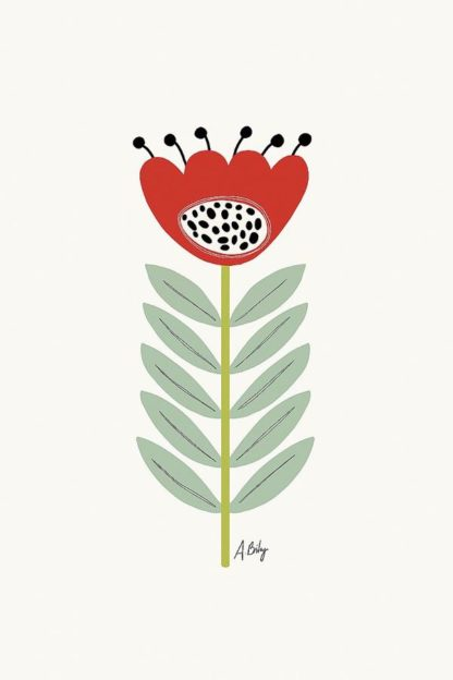 A601D - Annie Bailey Art - Mid Mod Flower No. 2
