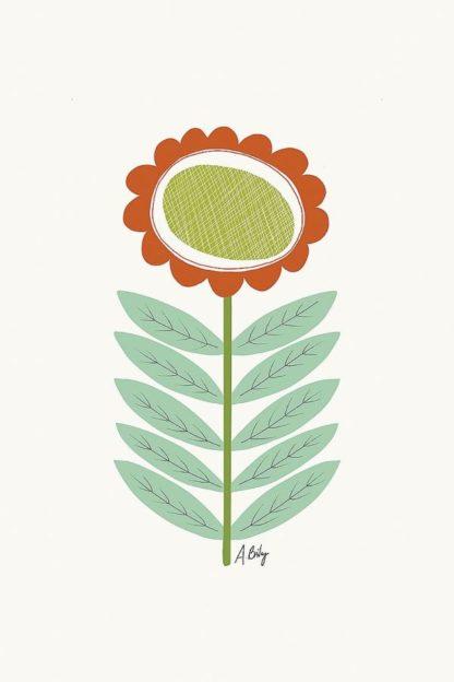 A602D - Annie Bailey Art - Mid Mod Flower No. 3