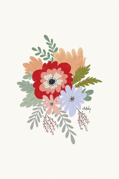 A607D - Annie Bailey Art - Spring Flowers