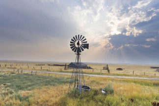 A610D - Annie Bailey Art - Windmill Sunset