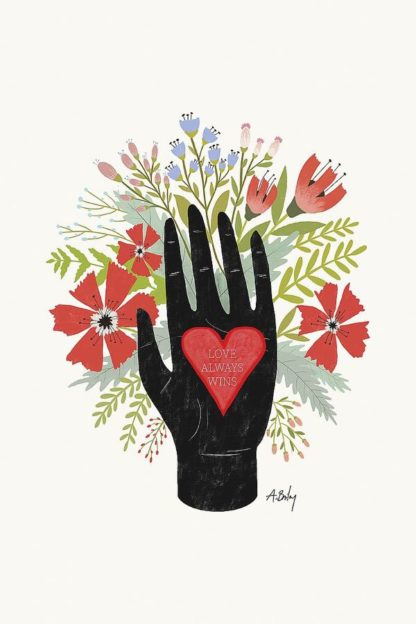 A614D - Annie Bailey Art - Love Always Wins